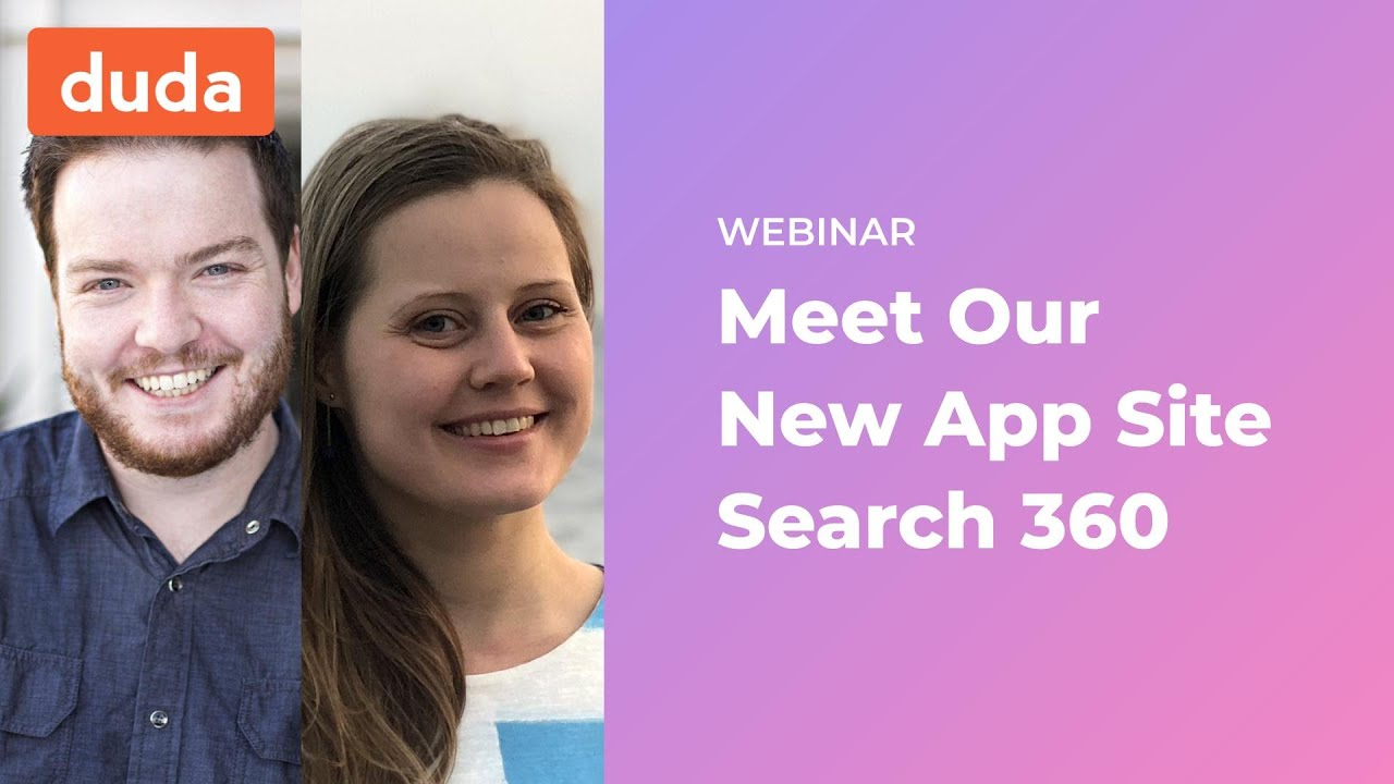 Add On Site Search With Site Search 360 Duda Webinar Youtube