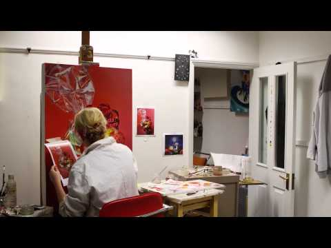 Sarah Graham time-lapsed Painting of 70 Sweethearts