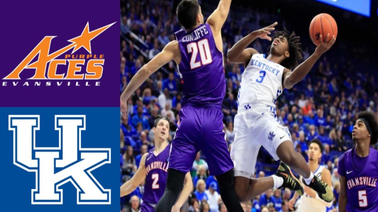 Upset Of The Year Evansville Vs 1 Kentucky 2019 College Basketball Highlights 11 12 2019