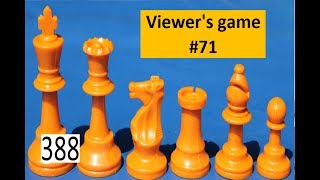 Viewer's Game #71 ¦ A pinned piece is a bad defender!