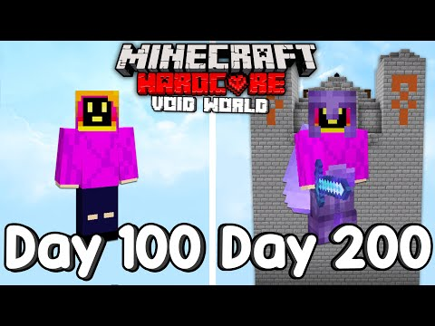 I Survived 200 Days Of Hardcore Minecraft, In A Void Only World. - Not PaulGG