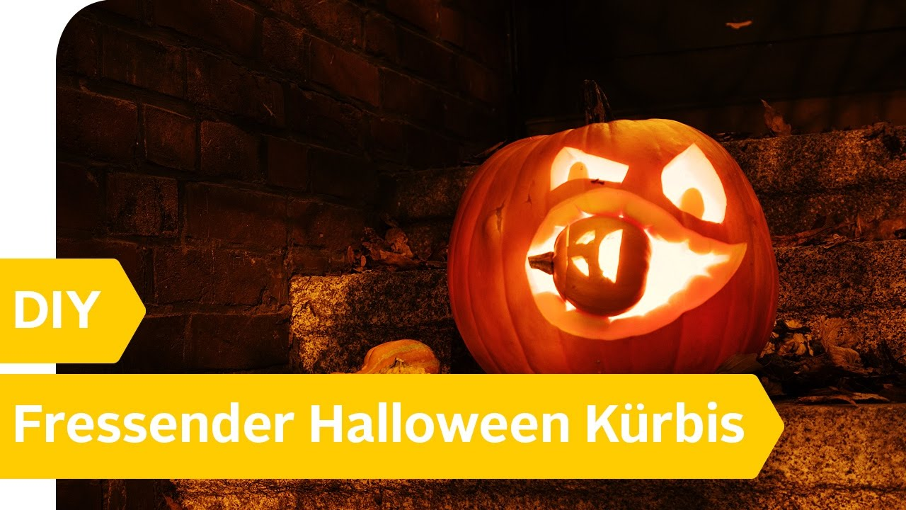 Halloween Kürbis schnitzen: Fressender Kürbis - YouTube