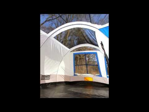 & Tahoe Gear Gateway 12 Person Deluxe Cabin Family Tent - YouTube