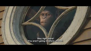 Caesar hunts down & beats Will neighbor Hunsiker | Rise of the Planet of the Apes (2011)