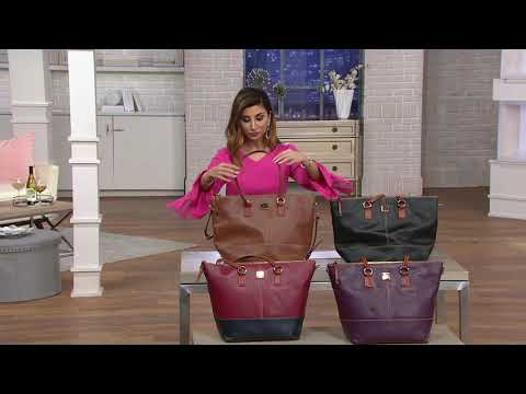 Dooney & Bourke Leather Becky Tote on QVC