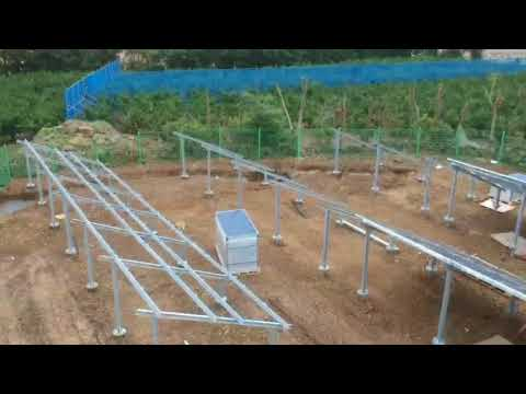 [Ground Screw] Jeju Island solar power station foundation 제주 청수리