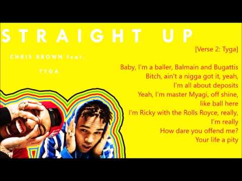 Chris Brown - Straight Up (Lyrics) feat. Tyga