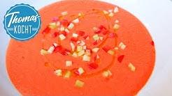 Gazpacho Andaluz - erfrischende und gesunde Tomatensuppe aus Spanien / Thomas kocht