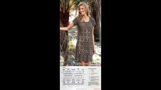 Летнее ажурное платье крючком часть 1  crocheted dress part 1
