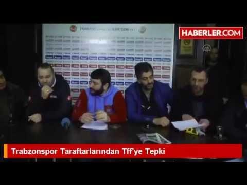 Trabzonspor Taraftarlarından Tff'ye Tepki
