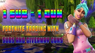 Fortnite Save The World Stream!! - (Gun Giveaway!) 130 Gun Every 10 Subs!! With JinxLive!