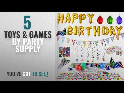 Top 10 Party Supply Toys & Games [2018]: Happy Birthday Party Supplies and Party Decorations