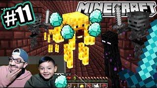 Diamantes en el Nether de Minecraft | Entramos a la Fortaleza | Juegos Karim Juega