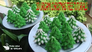 HOW TO MAKE 3D ORIGAMI CHRISTMAS TREE  PAPER  CHRISTMAS TREE DECORATION TUTORIALS