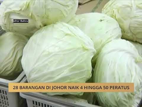 28 barangan di Johor naik 4 hingga 50 peratus