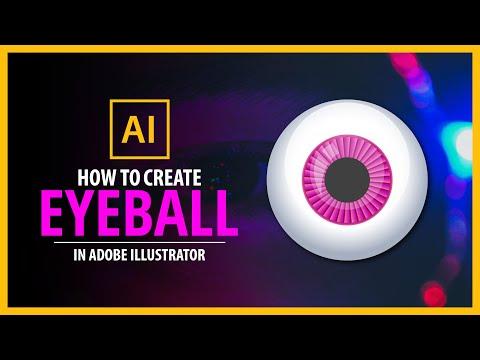 How to design an eyeball  - Adobe illustrator tutorial thumbnail