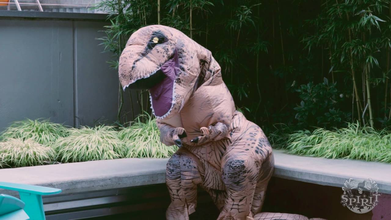 t rex inflatable costume spirit halloween