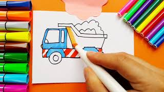 Very Easy Drawing Funny Truck for Kids