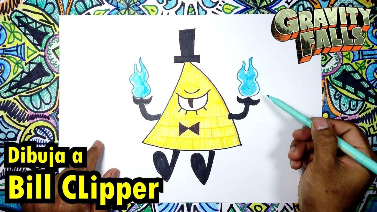 Cómo dibujar fácil a BiLL Clipper de Gravity FALLS - YouTube