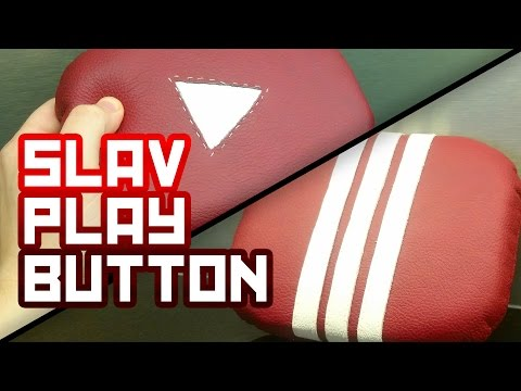 STITCHED LEATHER Custom Play button award