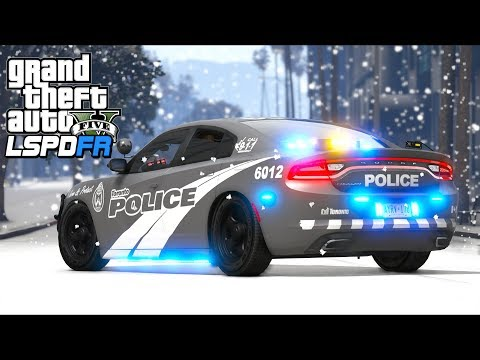 GTA 5 Mods - Snow BLIZZARD in JULY!! (LSPDFR Gameplay)