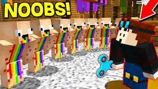 10 DERPY NOOBS vs 2 YOUTUBERS! (Minecraft Murder Mystery Trolling) with UnspeakableGaming