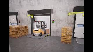 Dock Technik - Inflatable Dock Shelter Swing Lip Dock Leveller