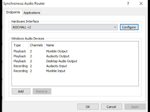 Make your own FREE virtual audio cables with Synchronous Audio Router