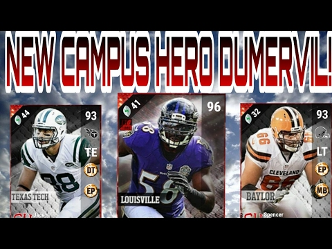 THESE CARDS ARE LIT! NEW CAMPUS HERO ELVIS DUMERVIL! MADDEN 17 ultimate TEAM