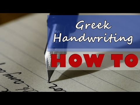 Greek Alphabet Handwriting - Learn How to Write in Greek