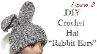 Шапка с ушками - Шапка зайчик - MK3 / DIY Rabbit Hat
