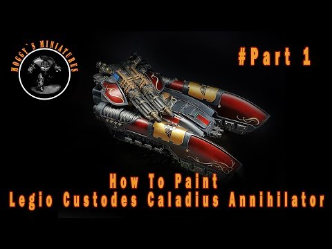 How To Paint  Forgeworld black Custodes Caladius Annihilator Grav Tank pt1