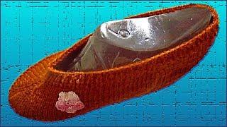 Вязаные следки на любой размер. Простые следки спицами. Следки спицами. Часть 2. (slippers. P. 2)