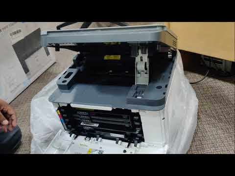 HP Color Laser MFP 178nw A4 Color Laser Printer unboxing