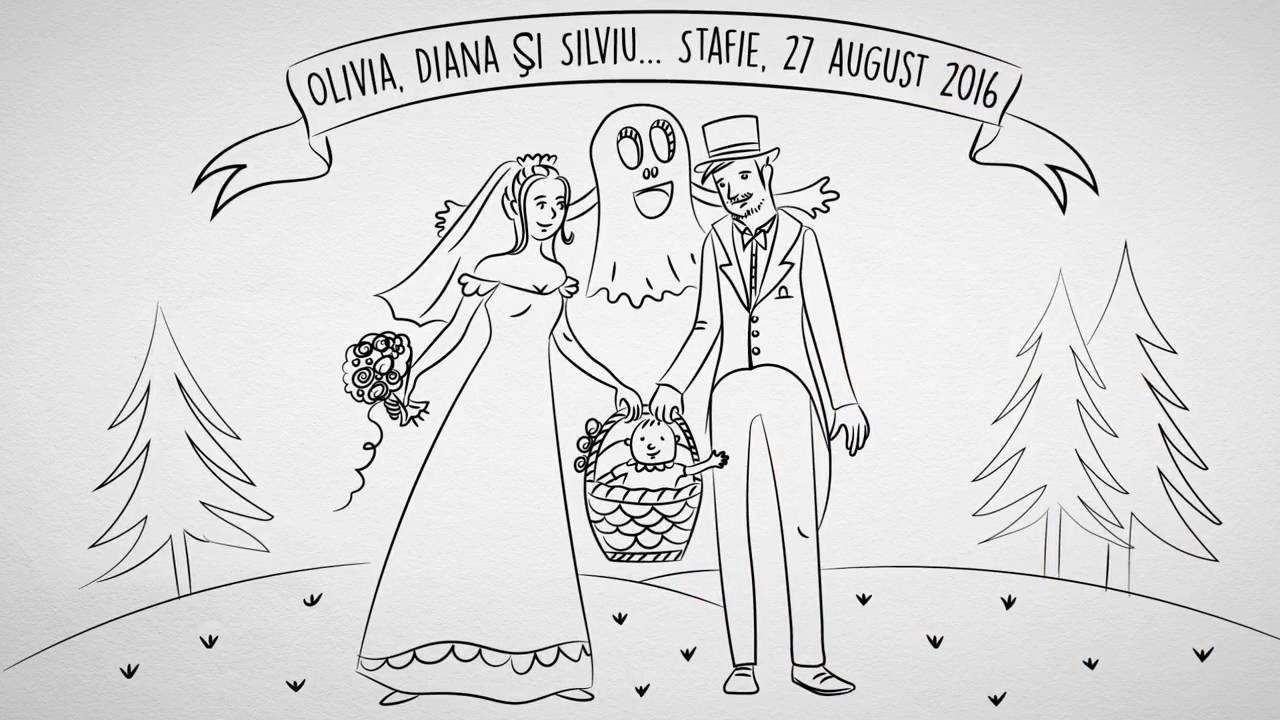 Olivia Diana Si Silviu Invitatie Nunta Si Botez Doodle Video