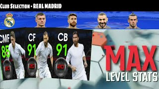 Max Stats Of Real Madrid Club Selection Players | PES 2020