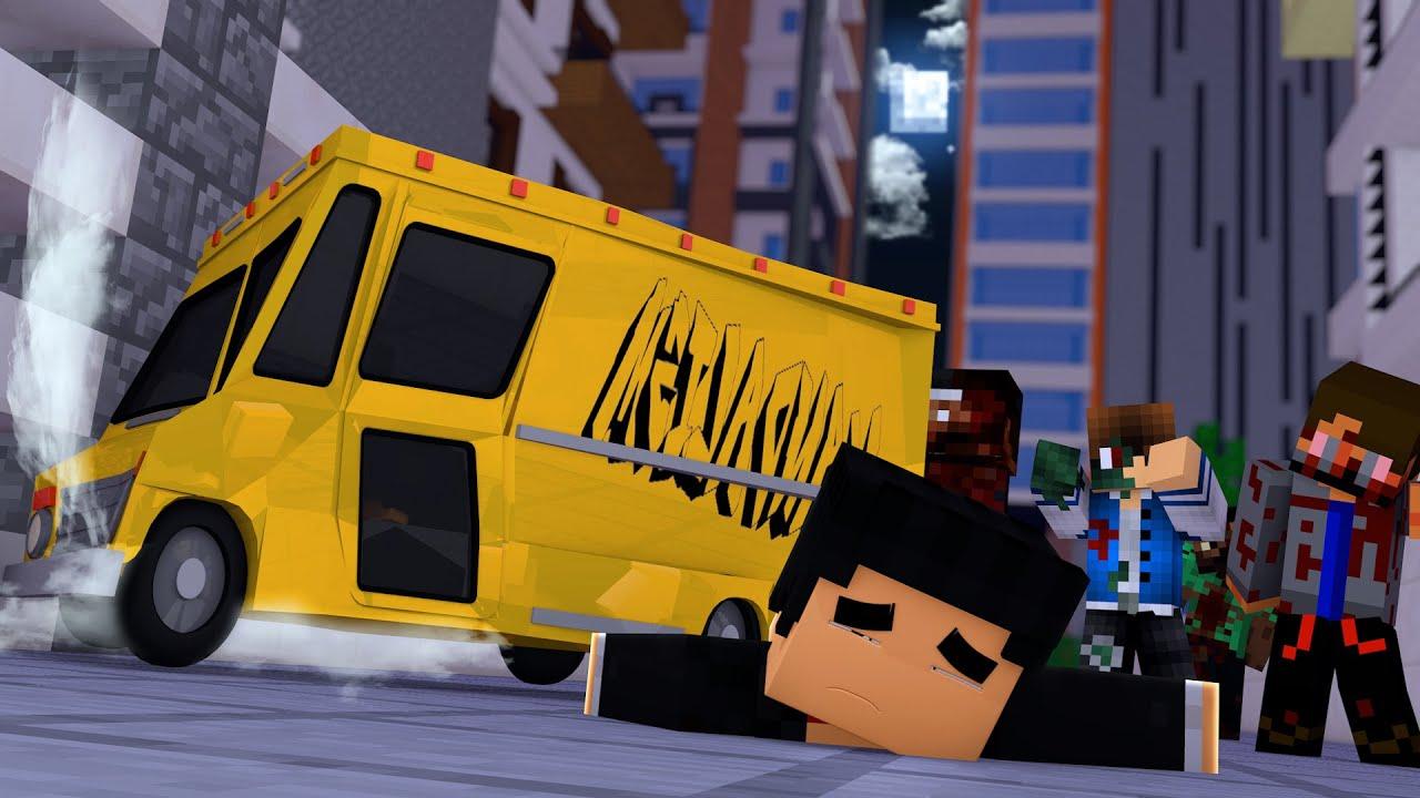 Minecraft: SOFREMOS UM ACIDENTE DE CARRO - ACADEMIA ZUMBI #08