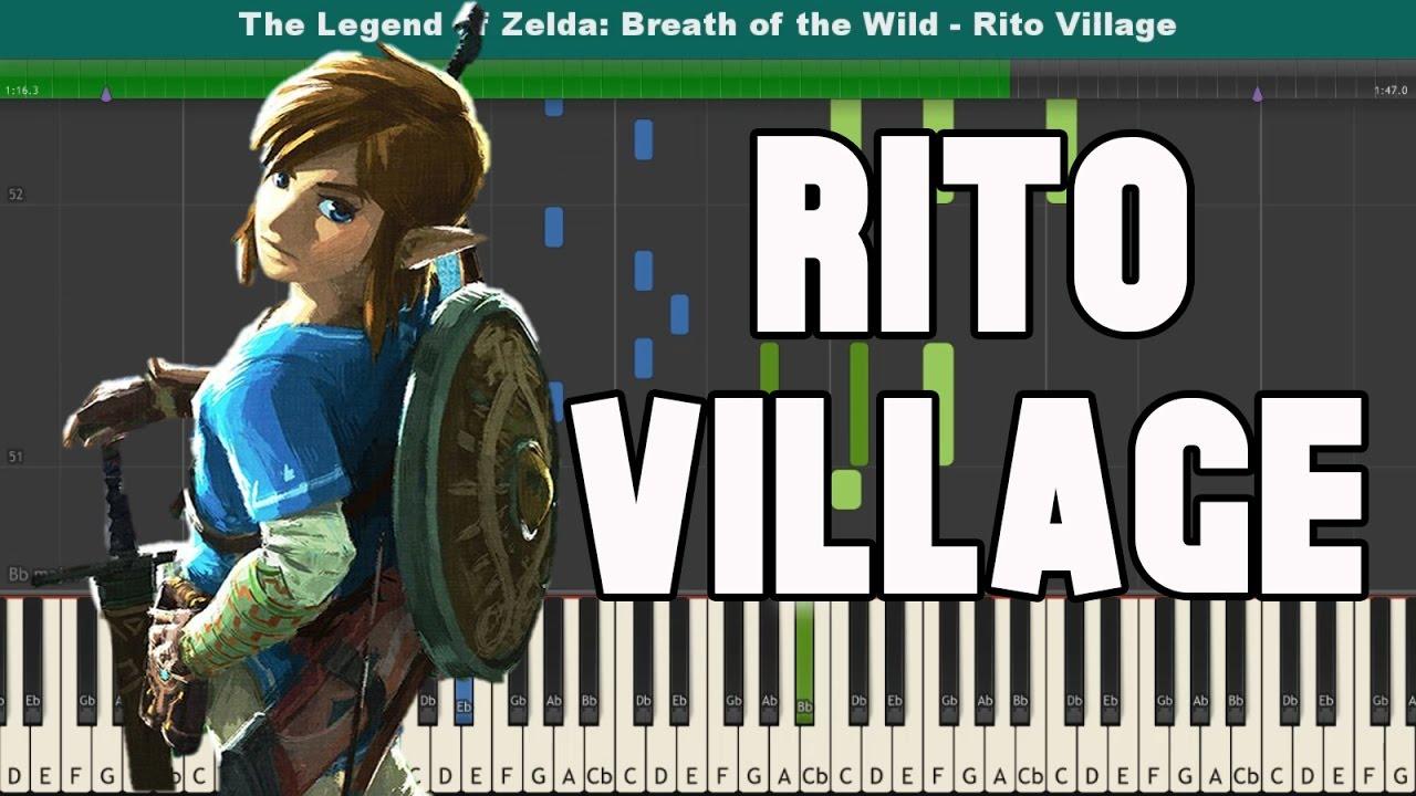 Rito Village Piano Tutorial - Free Sheet Music (The Legend of Zelda: Breath  of the Wild OST)