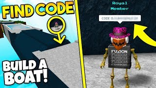 FIND HIDDEN SECRET CODE CARD!! | Build a boat for Treasure ROBLOX