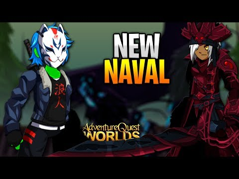 New Naval and PVP Gear AQW AdventureQuest worlds