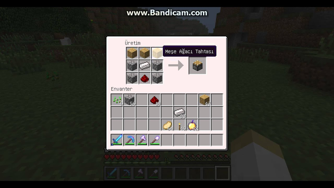 Minecraft:Piston Yapımı - YouTube