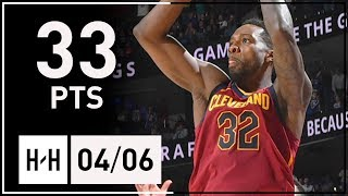Jeff Green Full Highlights Cavs vs 76ers (2018.04.06) - 33 Points!