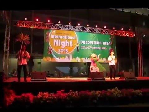 INTERNATIONAL NIGHT 2015, MAHIDOL UNIVERSITY - ONDEL-ONDEL DANCE [INDONESIA] - DISCOVERING ASEAN -