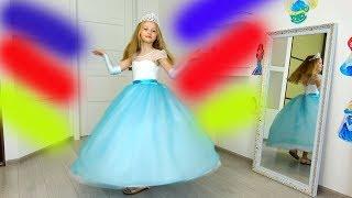 Polina escoge un vestido a la fiesta y un espejo mágico