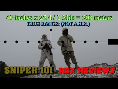SNIPER 101 Part 84 - How to use Mil-Dots for Ranging Targets