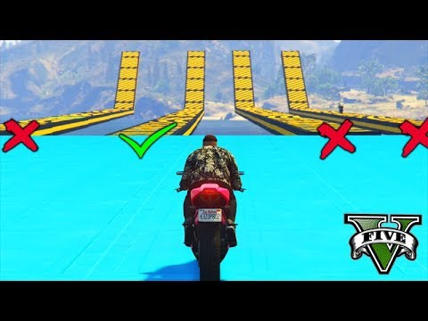 GTA V Online: 4x MEGA RAMPA TROLL (QUAL O CAMINHO?!!!)