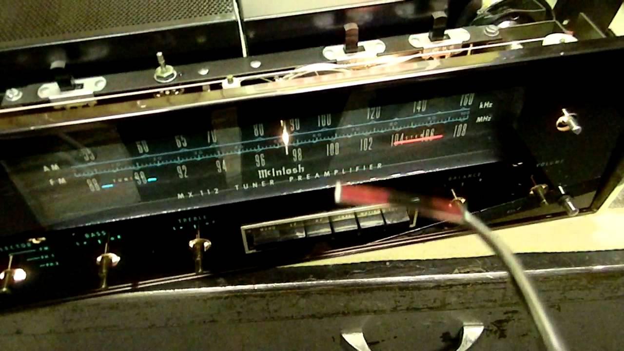 McIntosh MX112 Tuner Preamplifier Small Repair MOV