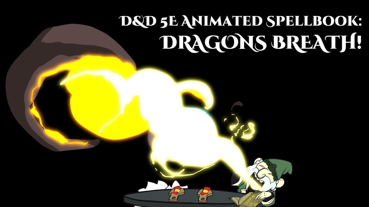 (Animated Spellbook) Dragons Breath Spell