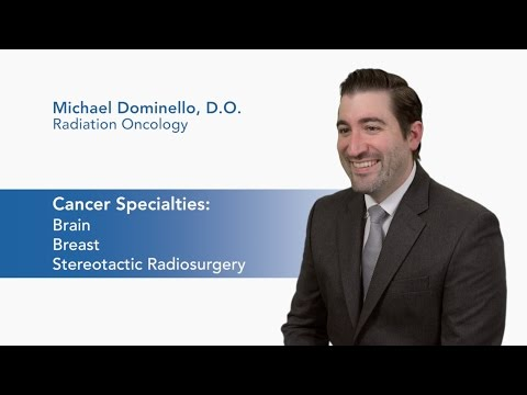 Meet Dr. Michael Dominello - Radiation Oncology video thumbnail