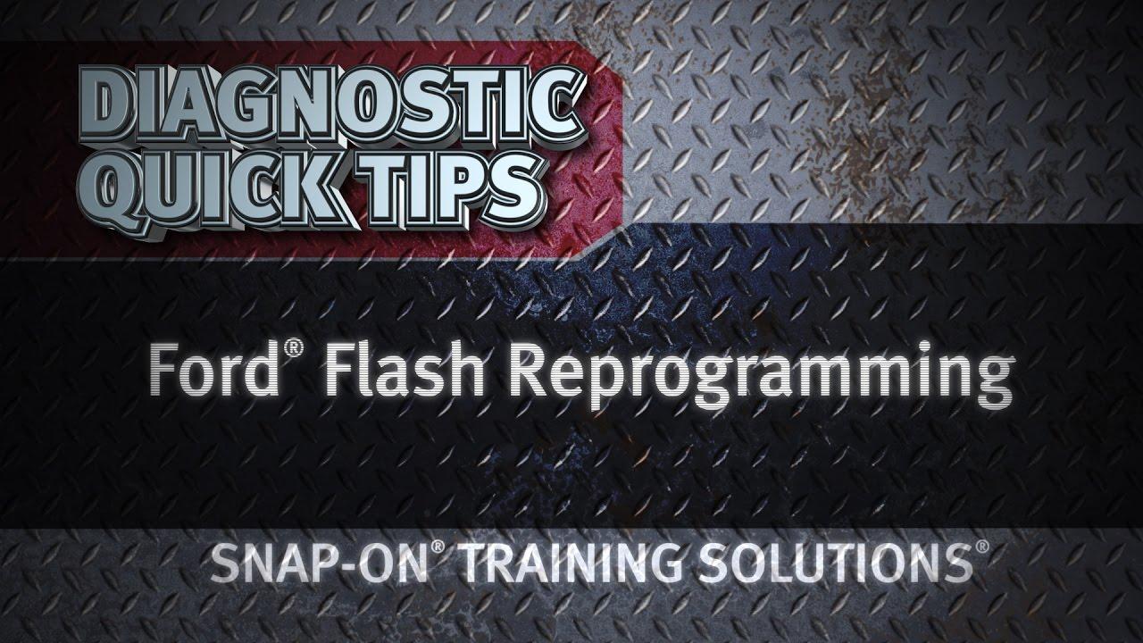Diagnostic Quick Tips - Ford Flash Reprogramming